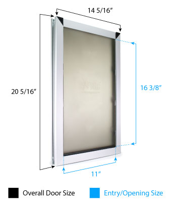 Large Dog Door Dimensions